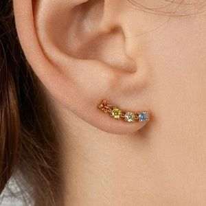 *ADARA* Multicolor Rhinestone Fashion Earrings